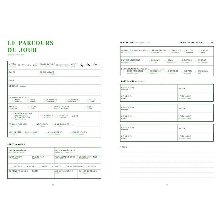AVENTURA EDITIONS - CARNET DE GOLF