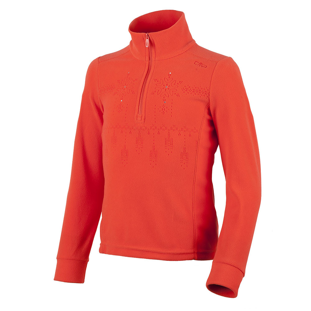CAMPAGNOLO - POLAIRE JUNIOR BRODEE 1/2 ZIP ROUGE