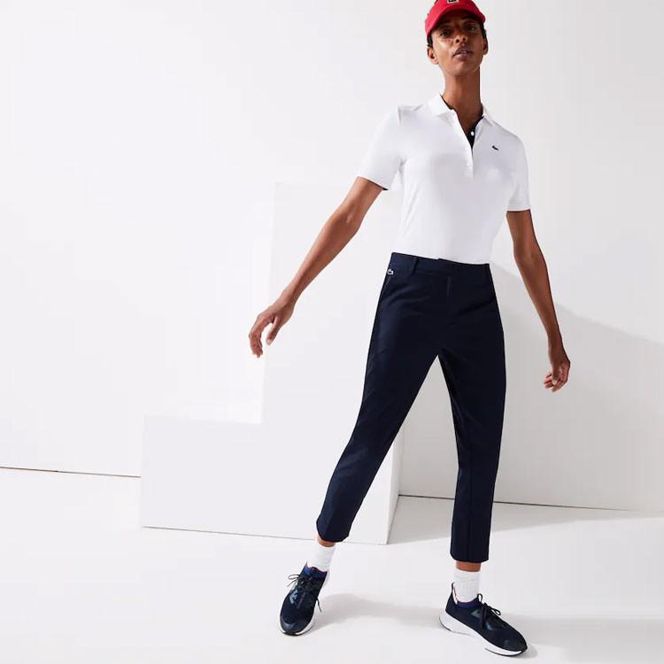 Lacoste Pantalon Femme Plis Technique Bleu Marine Golf Plus