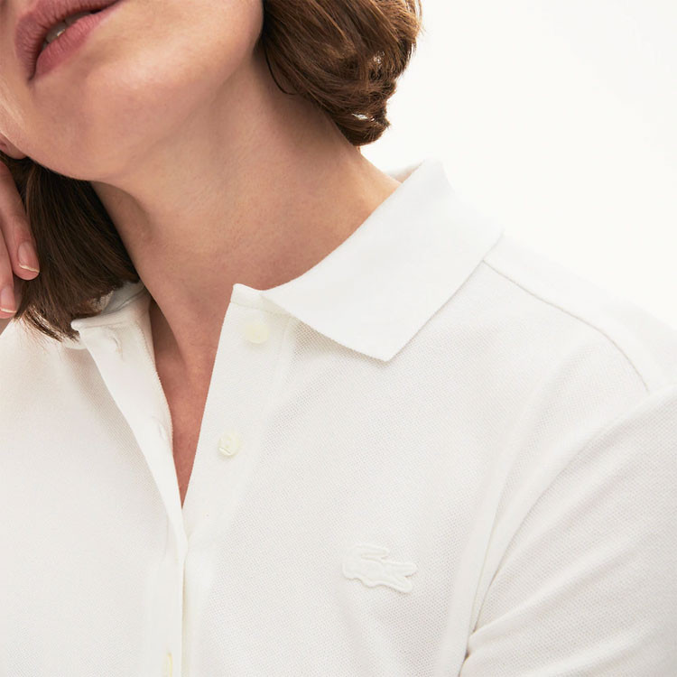 Lacoste Polo Femme Coton Blanc Golf Plus