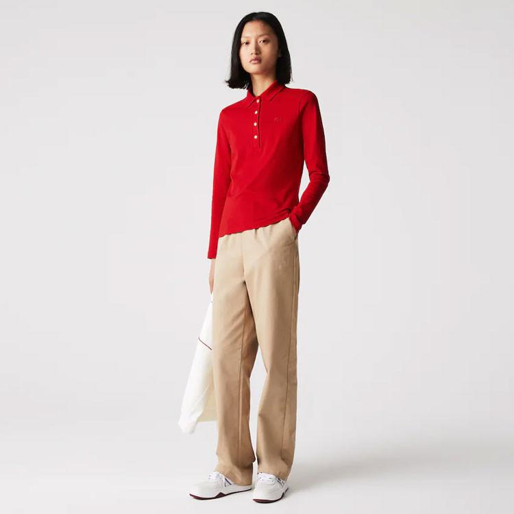 Lacoste Polo Femme Coton Rouge Golf Plus