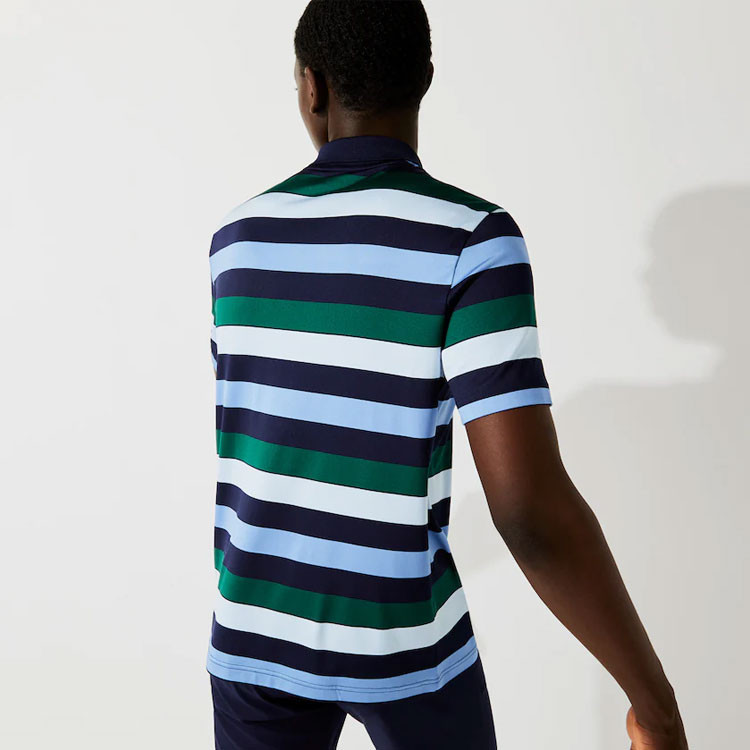 Lacoste Polo Stretch à Rayures Homme Golf Plus