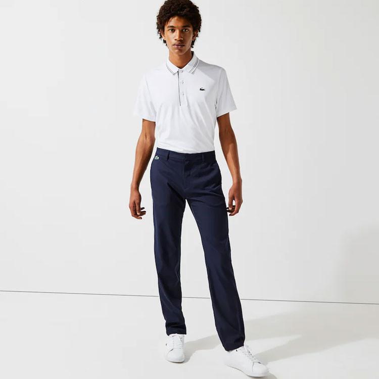 Lacoste Pantalon Chino Uni Bleu Marine Homme Golf Plus