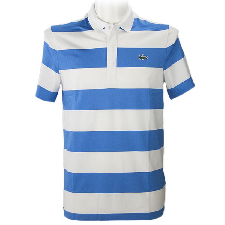 achat-achetez-acheter-Polo-Golf-Homme-Rayures-Bleu-Blanc-Antoine-ROZNER-Golf-Plus-Qatar-Masters-2021