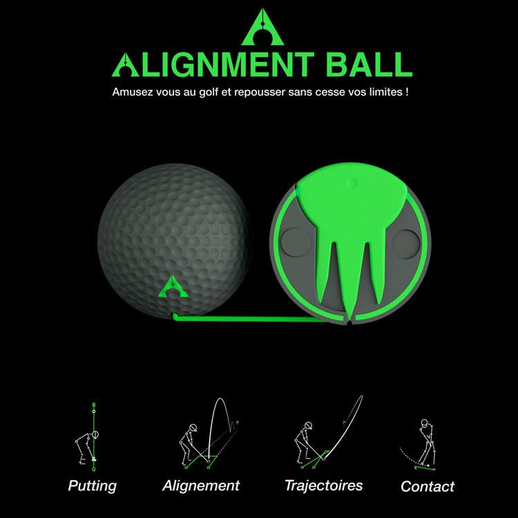 balle-alignement-entrainement-Golf-Plus