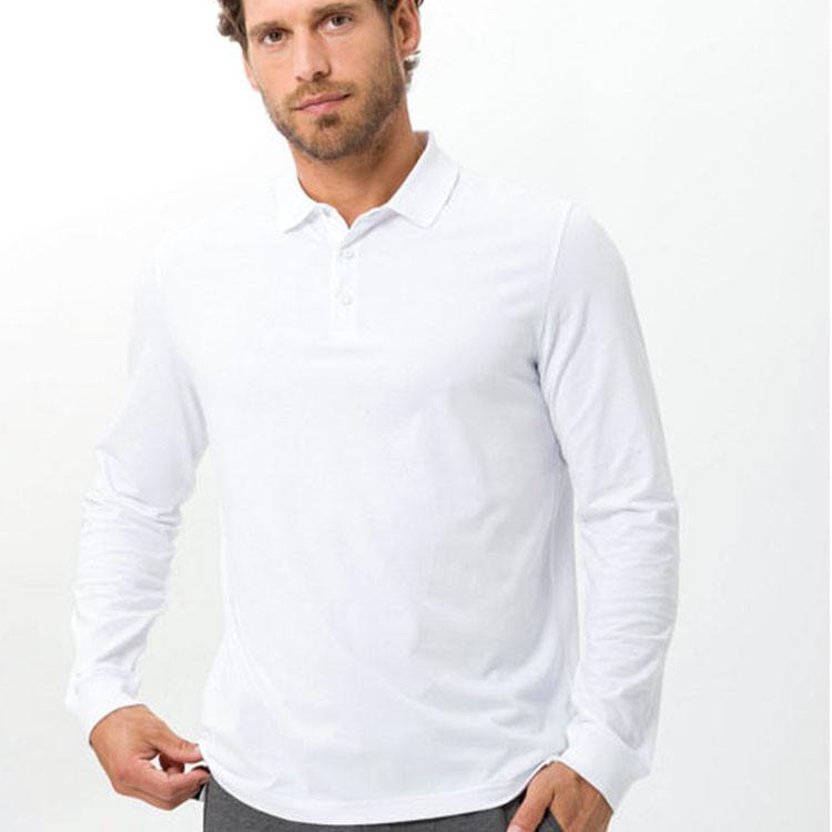 Brax Polo Phoenix Homme Blanc De Face Golf Plus