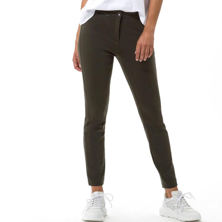 Brax Pantalon Lou Femme Kaki Grand Angle Golf Plus