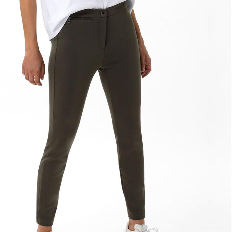 Brax Pantalon Lou Femme Kaki De Face Golf Plus
