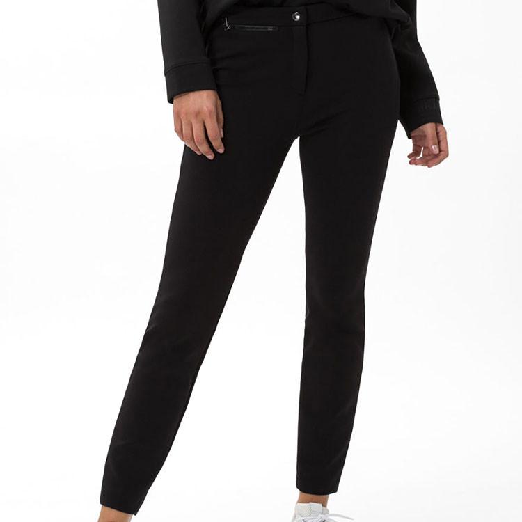 Brax Pantalon Lou Femme Noir De Face Golf Plus