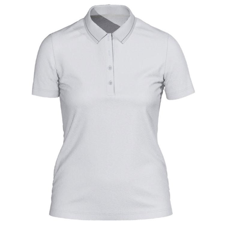 Brax Polo Peach Uni Blanc Femme Golf Plus