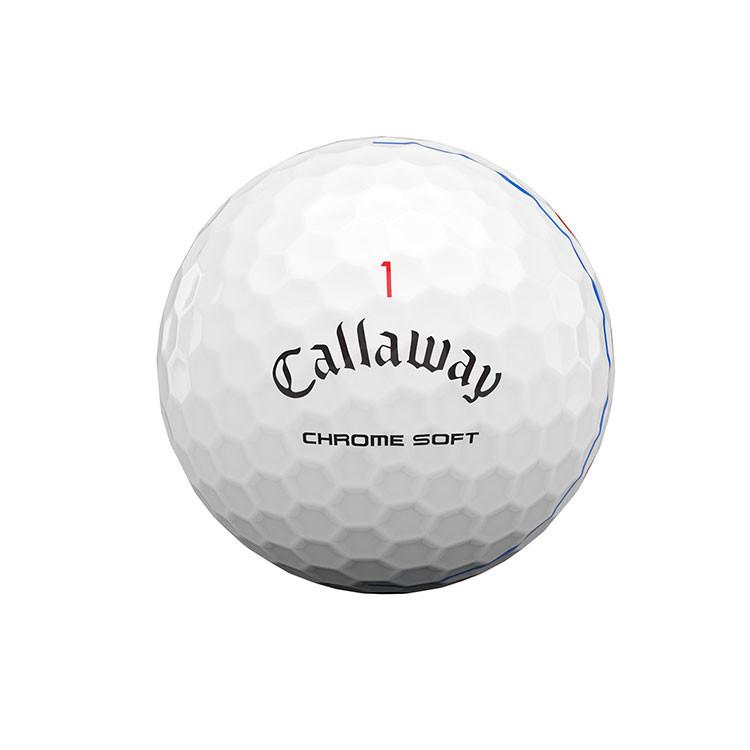 CALLAWAY - BALLES DE GOLF CHROME SOFT TRIPLE TRACK BLANC - 2