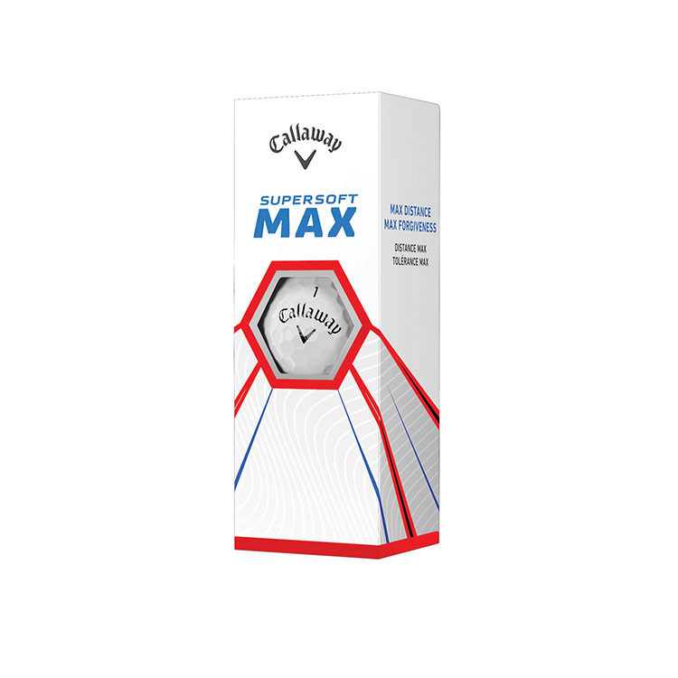 Callaway -  3 Balles Supersoft Max blanche