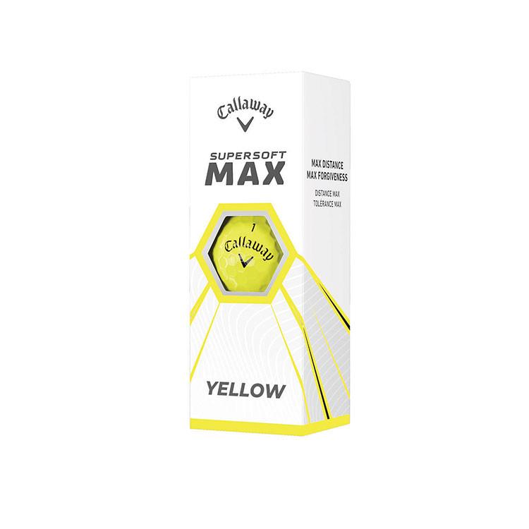 Callaway - 3 Balles de golf Supersoft Max jaune