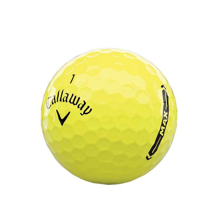 Callaway - Balle de golf Supersoft Max jaune ligne
