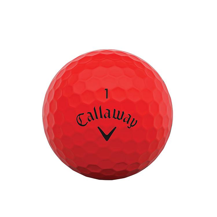 CALLAWAY - BALLES DE GOLF SUPERSOFT MATTE ROUGE 1