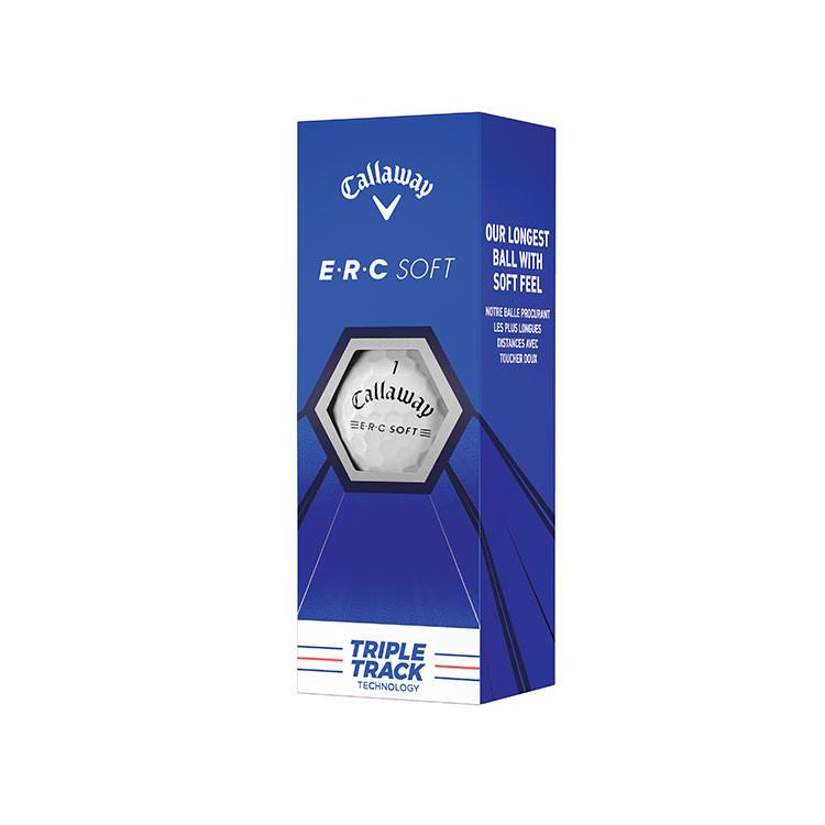CALLAWAY - 3 BALLES DE GOLF ERC SOFT TRIPLE TRACK BLANC