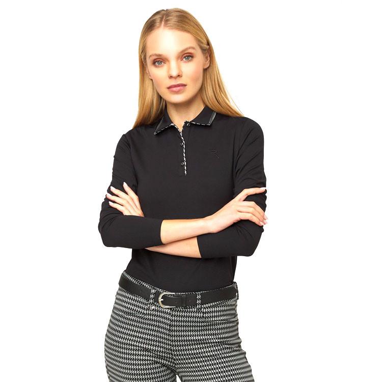 Chervo Polo Amira Noir Femme Golf Plus
