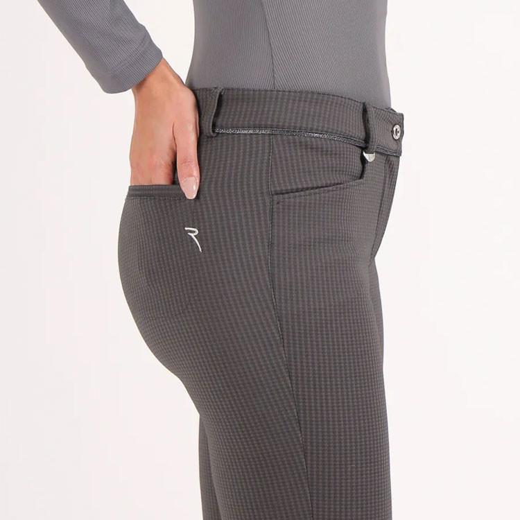 Chervo Pantalon Show Pied de Poule Gris Femme Golf Plus