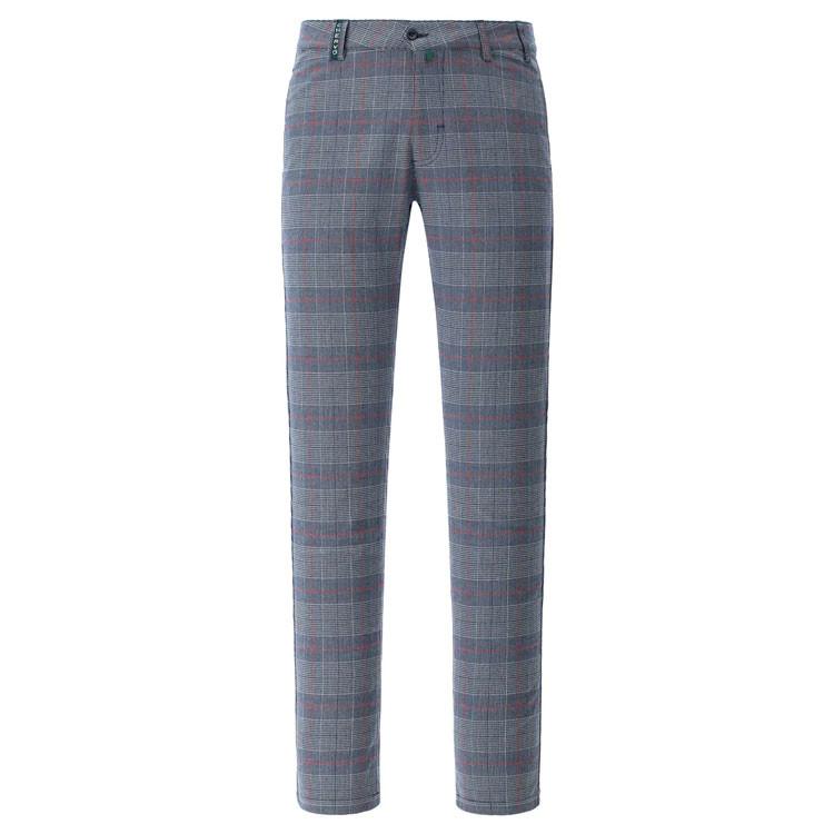 Chervo Pantalon Shang Ecossais Gris/Rouge Homme Golf Plus