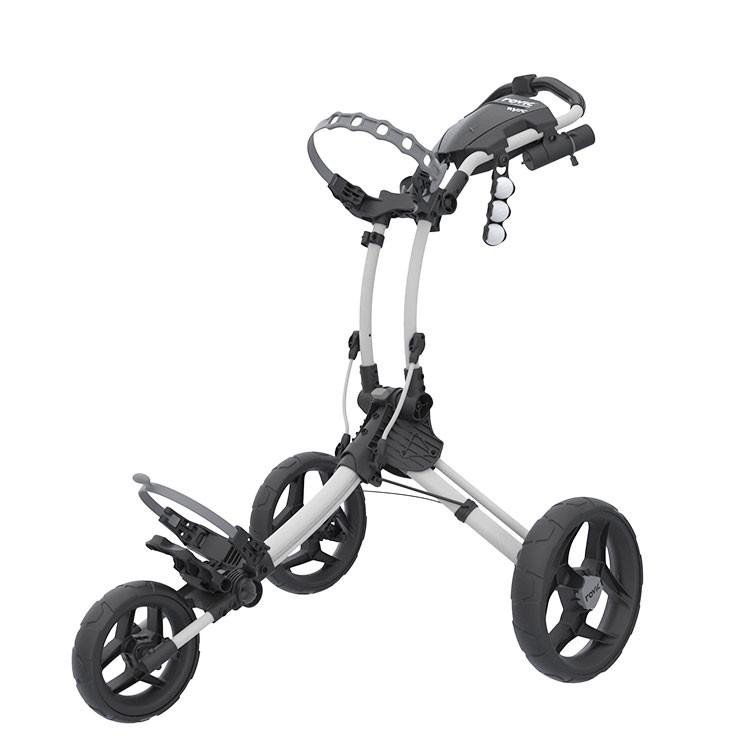 Rovic - Chariot de golf ROV1C blanc matt noir déplié