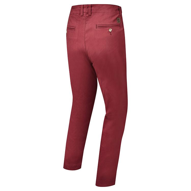 Footjoy - Pantalon de golf chino bordeaux dos