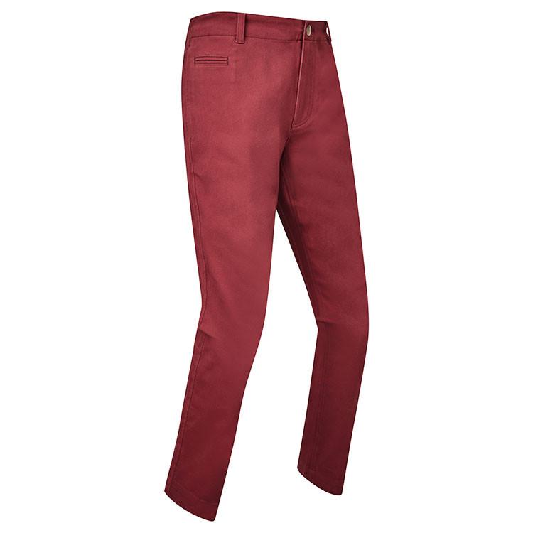 Footjoy - Pantalon de golf chino Bordeaux