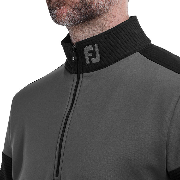 Footjoy - Pull Chill- out Xtreme Ribbed gris col - GP