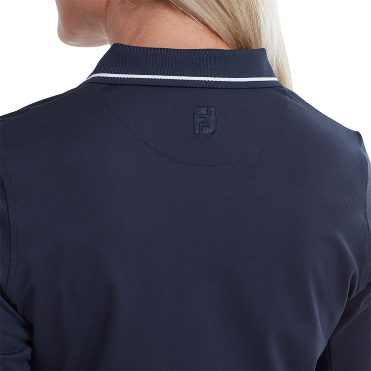 Footjoy - Polo femme Thermal Jersey Marine col