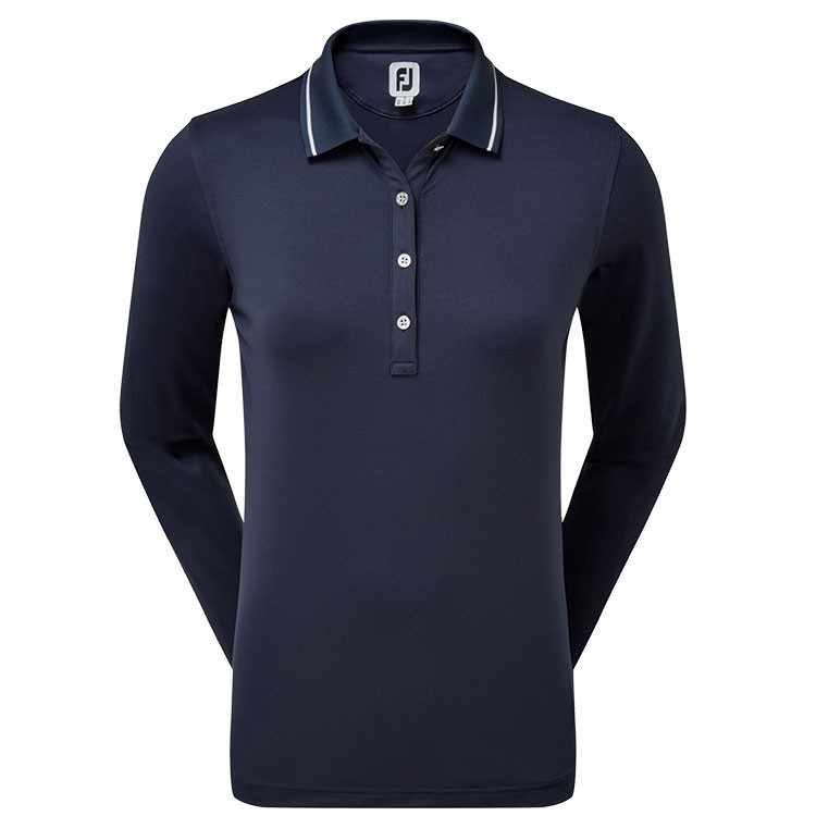 Footjoy - Polo femme Thermal Jersey Marine