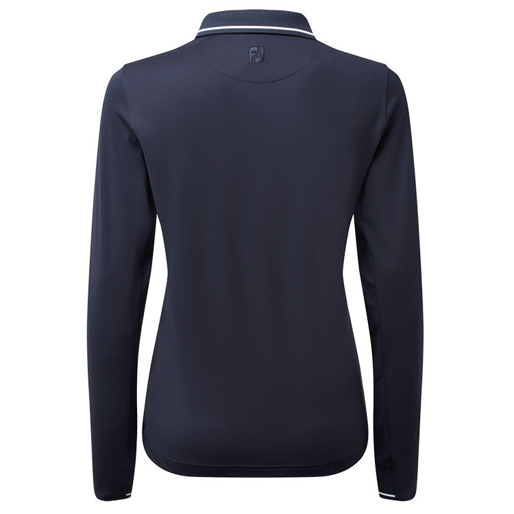 Footjoy - Polo femme Thermal Jersey marine dos