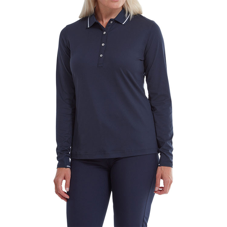 Footjoy - Polo femme Thermal Jersey Marine situation