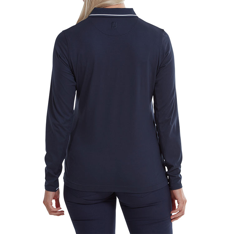 Footjoy - Polo femme Thermal Jersey Marine situation dos
