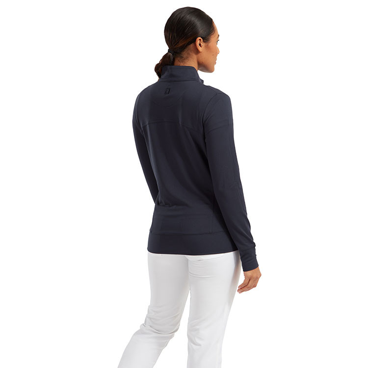 Footjoy - Pull sweat Zippé marine femme silhouette 1