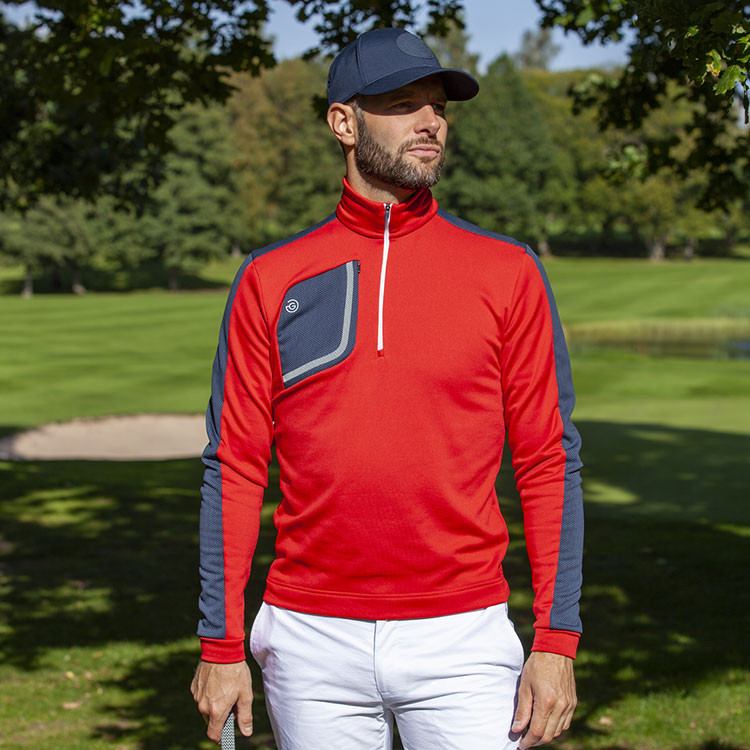 Galvin Green - Sweat Dwight rouge demi-zip situation