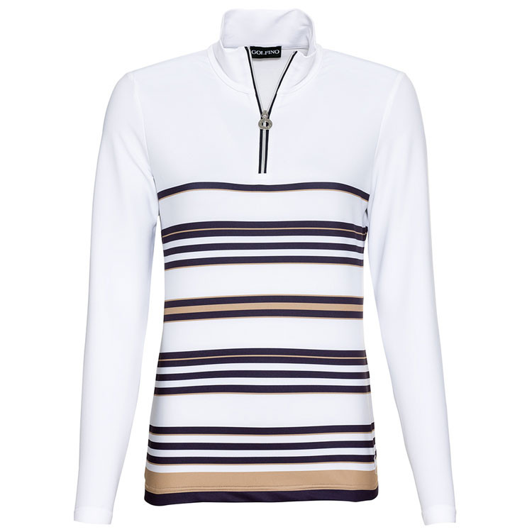 POLO FEMME 1/2 ZIP CHAUD face