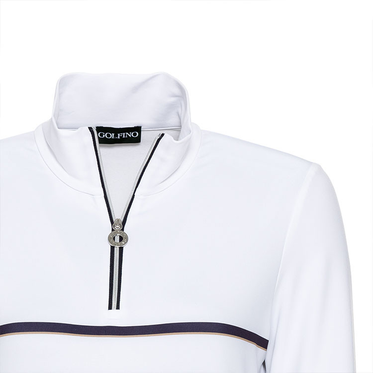 POLO FEMME 1/2 ZIP CHAUD situation zoom