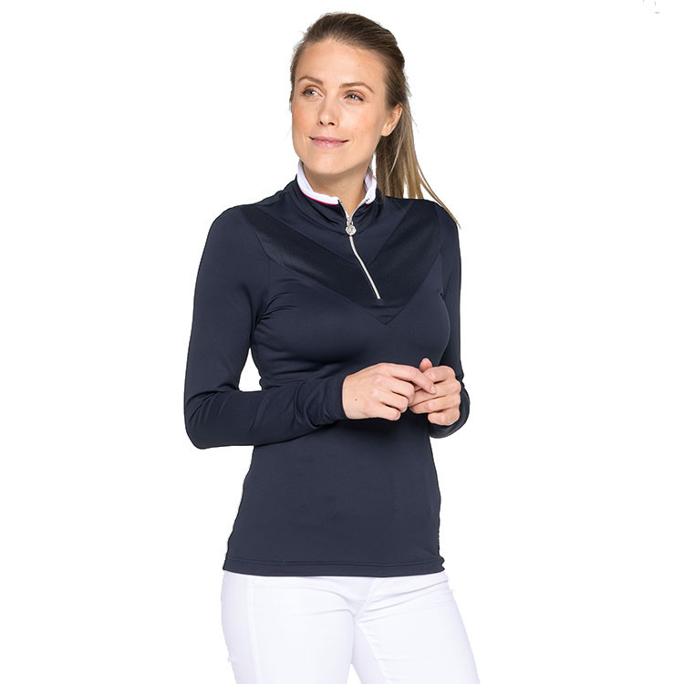 POLO FEMME 1/2 ZIP SITUATION FACE
