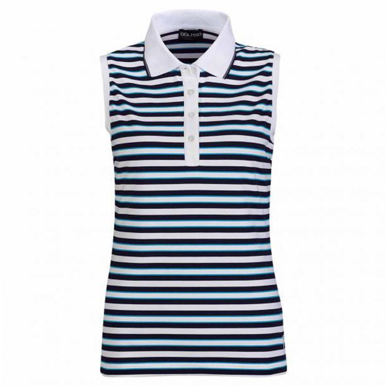 Golfino Polo Blanc/Bleu Femme