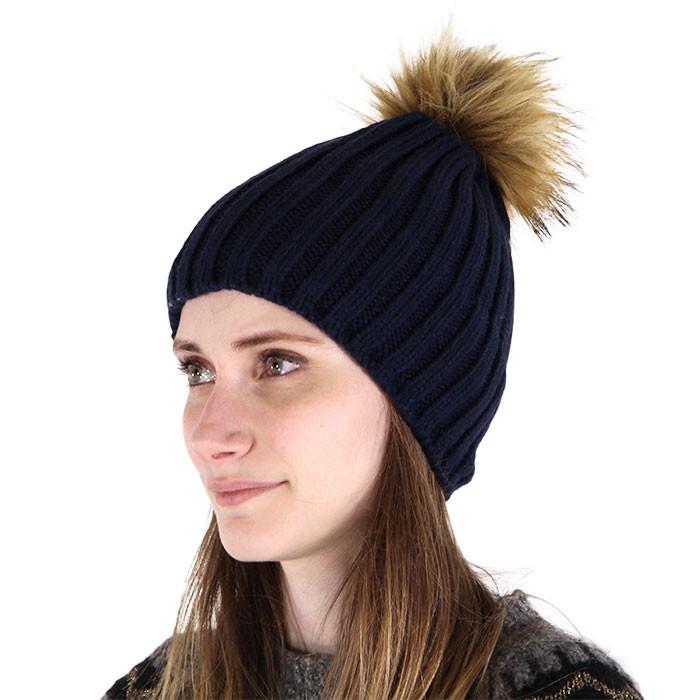 GRE bonnet pompon marron
