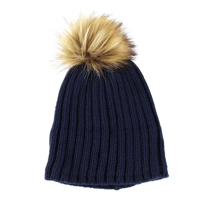 GRE bonnet pompon marron 1