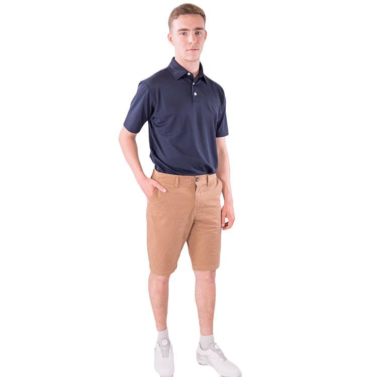 Bermuda Andrew golf homme camel marron  vetement golf tenue golf  Golf Plus