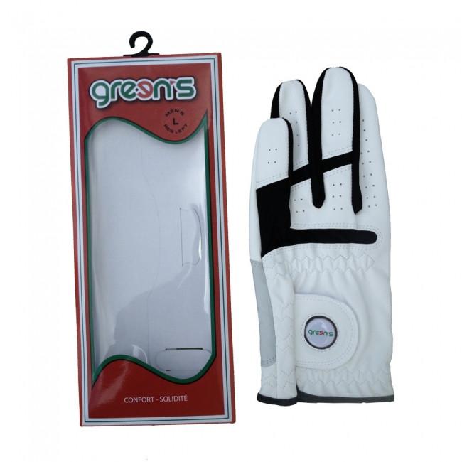 Green's Gant Synthétique Gaucher Blanc Golf Plus