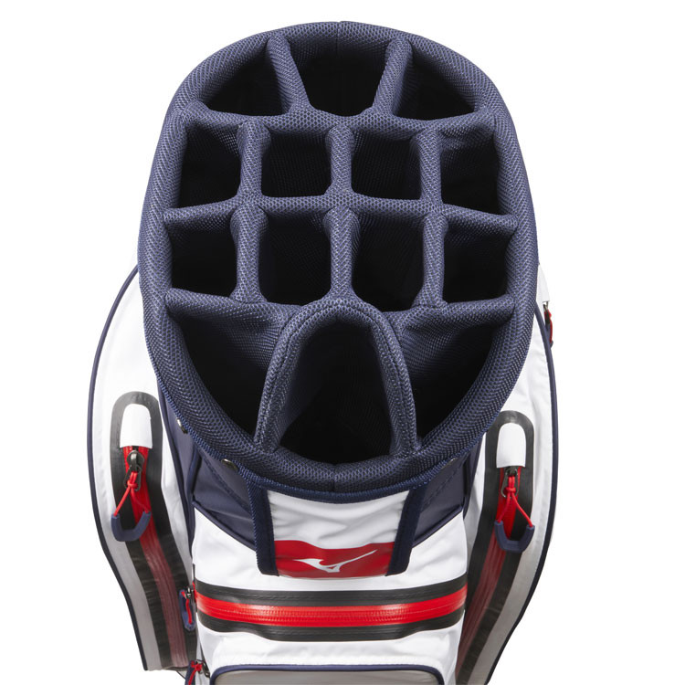 Mizuno Sac BR DRI Waterproof Marine/Blanc Compartiments Golf Plus