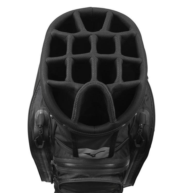 Mizuno Sac BR DRI Waterproof Noir/Argent Compartiments Golf Plus