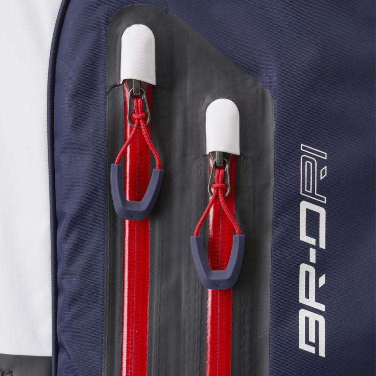 Mizuno Sac BR-DRI Trepied Waterproof Marine/Blanc Zoom Zip Golf Plus