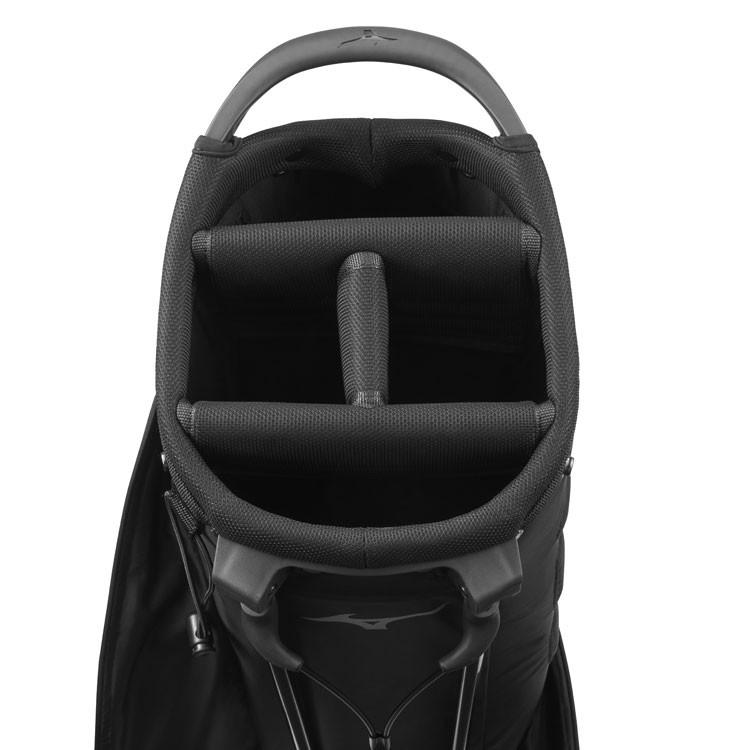 Mizuno Sac BR-DRI Trepied Waterproof Noir/Argent Compartiment Golf Plus