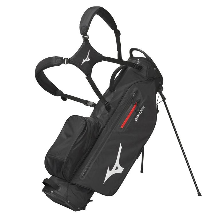 Mizuno Sac BR-DRI Trepied Waterproof Noir/Argent Profil Golf Plus