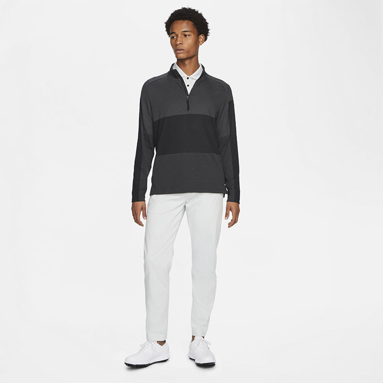 Nike Pull 1/2 Zip Vapor Gris Noir Homme Golf Plus