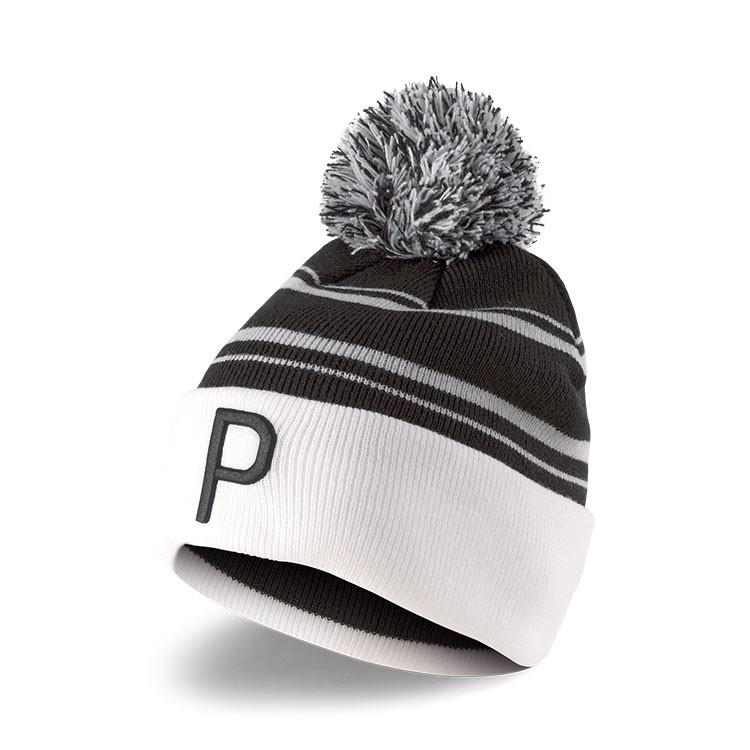 Puma Bonnet Pompon Homme Noir/Blanc Avant Golf Plus