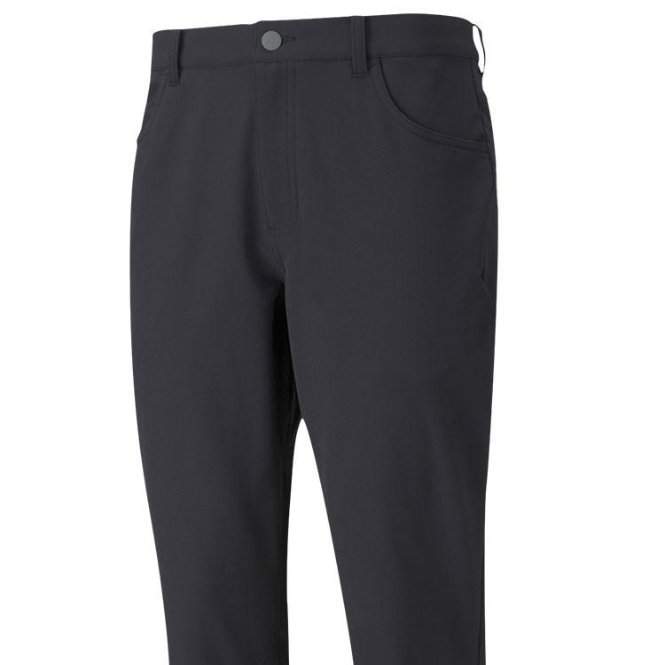 Puma Pantalon Jackpot Utility Noir Gros Plan De Face Golf Plus